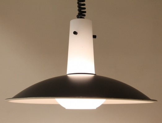 3 x Glashutte Limburg hanging lamp, 1960s