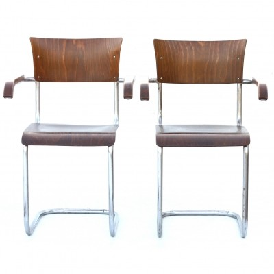 Set of 2 dinner chairs from the sixties by unknown designer for Kovona NP