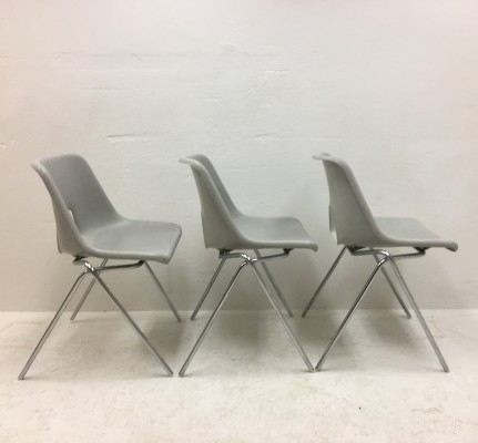 Set of 3 dining chairs by Niels Gammelgaard for IKEA, 1980s