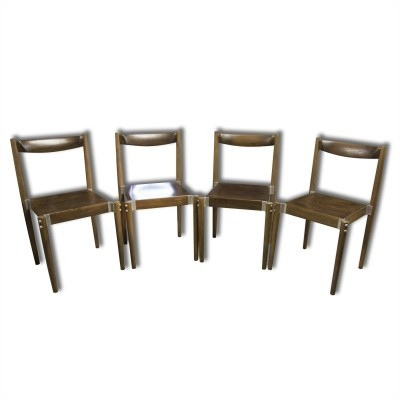 Set of 4 Miroslav Navrátil dining chairs, 1970s