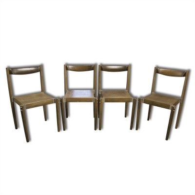 Set of 4 Miroslav Navrátil dinner chairs, 1970s
