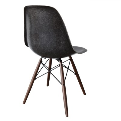 DSW Black dining chair by Charles & Ray Eames for Herman Miller, 1960s