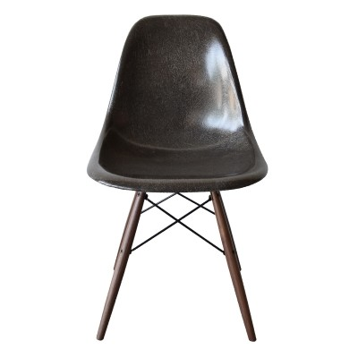 4 DSW Charcoal dinner chairs from the sixties by Charles & Ray Eames for Herman Miller