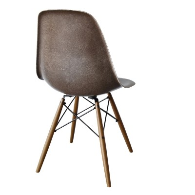 DSW Seal Brown dinner chair from the sixties by Charles & Ray Eames for Herman Miller