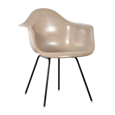 DAX Greige arm chair from the sixties by Charles & Ray Eames for Herman Miller