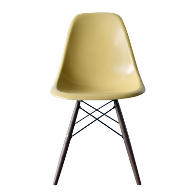 4 DSW Ochre Light dinner chairs from the sixties by Charles & Ray Eames for Herman Miller