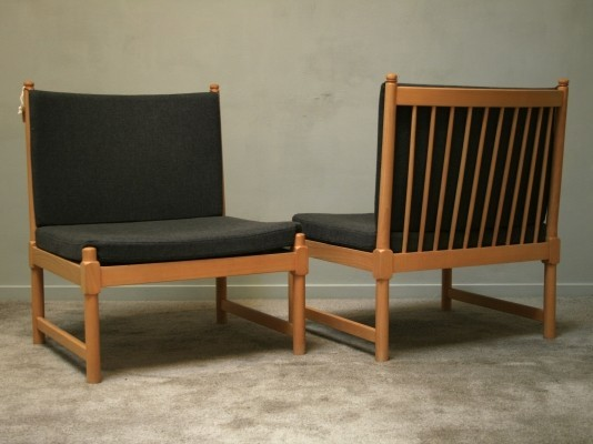 Set of 2 Model 1790 lounge chairs from the fifties by Børge Mogensen for Fritz Hansen