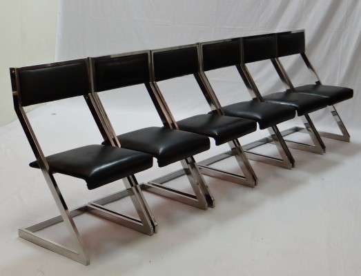 Set of 6 Z dinner chairs from the seventies by unknown designer for unknown producer