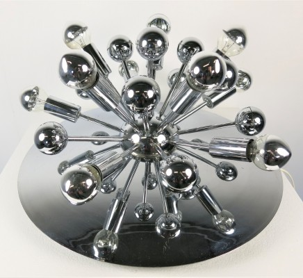 Sputnik ceiling lamp from the seventies by unknown designer for unknown producer