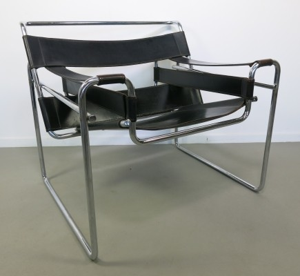Model B3 arm chair from the eighties by Marcel Breuer for Gavina