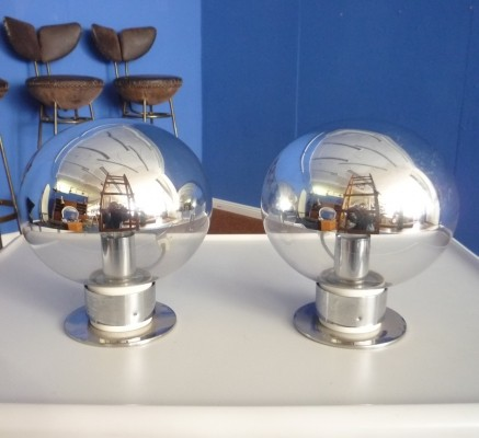 Set of 2 desk lamps from the sixties by Motoko Ishii for Staff