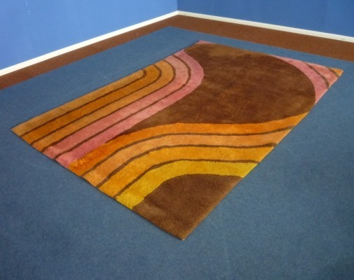 Pop Art Rug Hand Knotted Wool, 1960s