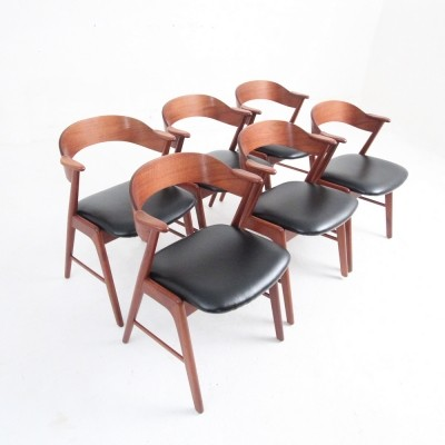 Set of 6 dinner chairs from the fifties by Kai Kristiansen for unknown producer