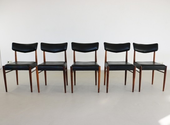 Set of 5 dinner chairs from the sixties by unknown designer for unknown producer