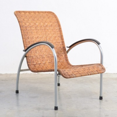 Deckchair No. 404 arm chair by W. Gispen for Gispen, 1950s
