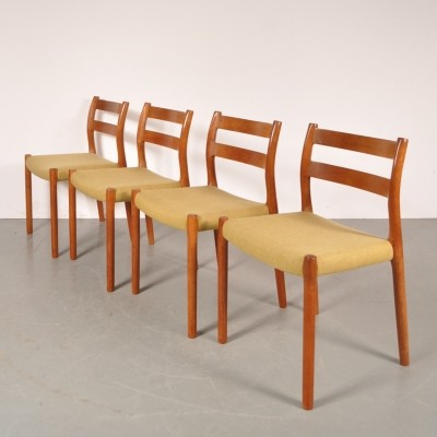 Set of 4 dinner chairs from the sixties by Niels Otto Møller for Moller
