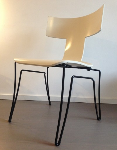 10 Anziano dinner chairs from the nineties by John Hutton for unknown producer