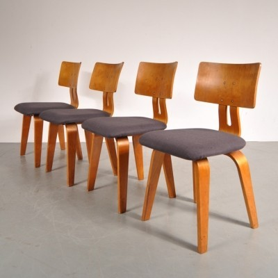 Set of 4 dinner chairs from the fifties by Cees Braakman for Pastoe