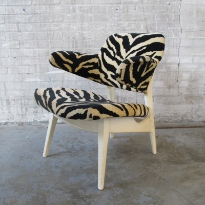 Set of 2 lounge chairs from the sixties by Louis van Teeffelen for Wébé