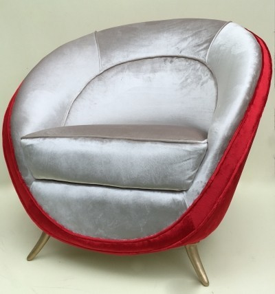 Lounge chair by Guglielmo Veronesi for ISA, 1950s
