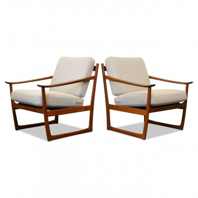Set of 2 FD-130 lounge chairs from the sixties by Peter Hvidt & Orla Mølgaard Nielsen for France & Son