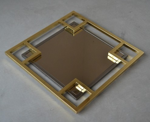 Mirror from the seventies by unknown designer for Maison Jansen