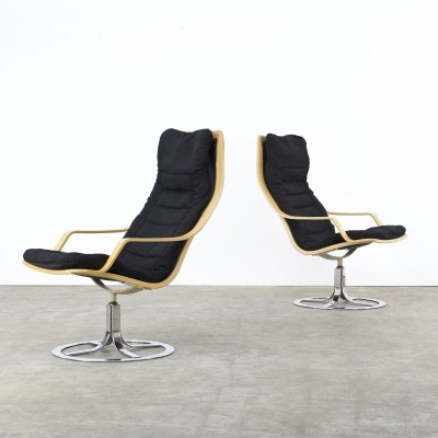 Set of 2 T213 lounge chairs from the seventies by unknown designer for Göte Möbler