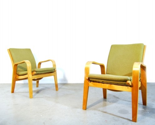 2 FB 06 arm chairs from the fifties by Cees Braakman for Pastoe