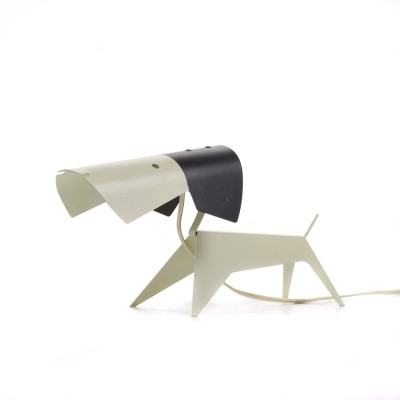 Puppy desk lamp from the fifties by Jean Boris Lacroix for Disderot