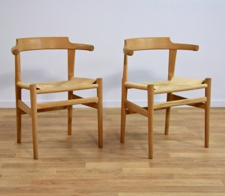 Set of 2 PP68 dinner chairs from the seventies by Hans Wegner for PP Møbler