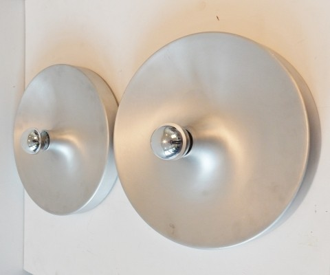 Set of 2 wall lamps from the seventies by unknown designer for Honsel Leuchten