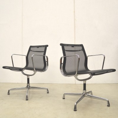 2 EA107 office chairs from the fifties by Charles & Ray Eames for Vitra