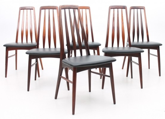 Set of 6 Model EVA dining chairs by Niels Kofoed for Hornslet Møbelfabrik, 1960s