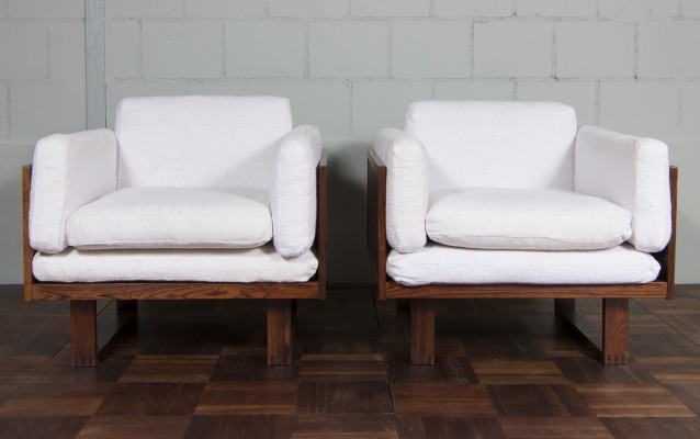 Set of 2 lounge chairs from the sixties by Poul Cadovius for France & Son