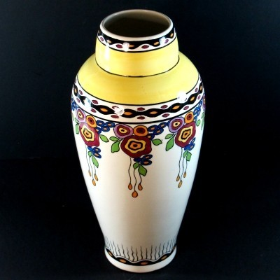 Set 695 Shape762 vase from the thirties by Charles Catteau for Boch Frères Keramis