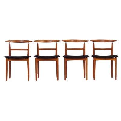 Set of 4 Model 465 dinner chairs from the sixties by Helge Sibast for Sibast