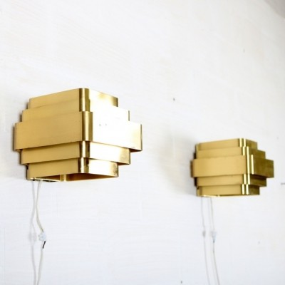 2 wall lamps from the sixties by Jules Wabbes for unknown producer