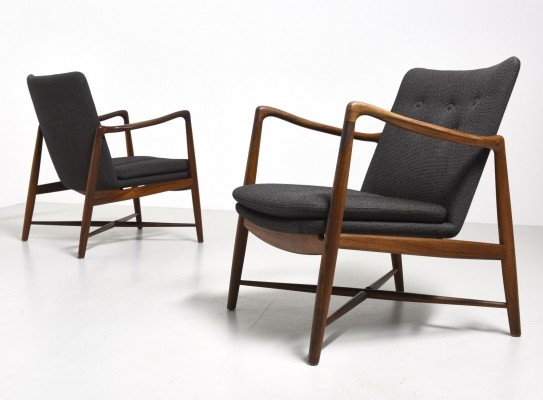 Set of 2 BO59 arm chairs from the forties by Finn Juhl for Bovirke