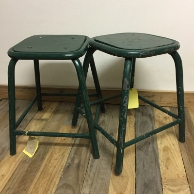 4 stools from the forties by unknown designer for unknown producer