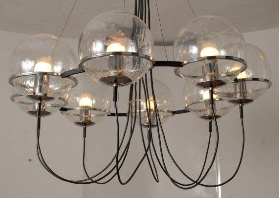 2 RAAK Saturnus hanging lamps from the sixties by unknown designer for Raak Amsterdam
