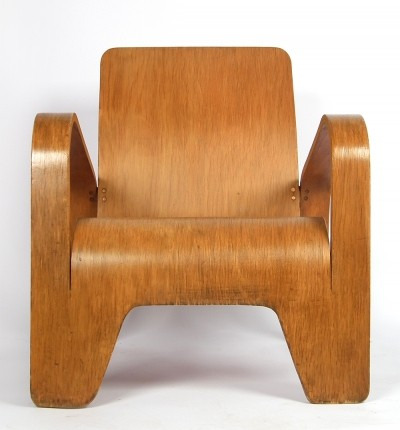 LaWo I lounge chair by Han Pieck for LaWo Ommen, 1940s