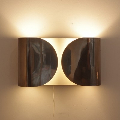 Set of 2 Foglio wall lamps from the sixties by Achille Giacomo Castiglioni for Flos
