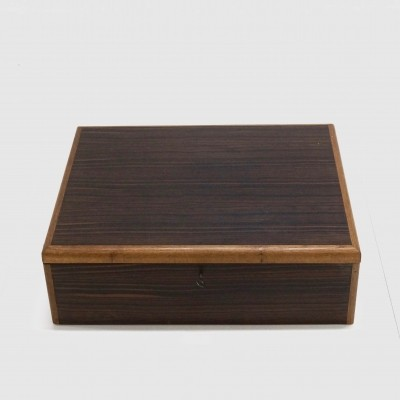 Rosewood & Teak Jewelry Box from the fifties by unknown designer for unknown producer