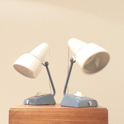 Pair of desk lamps by Charlotte Perriand for Philips, 1950s