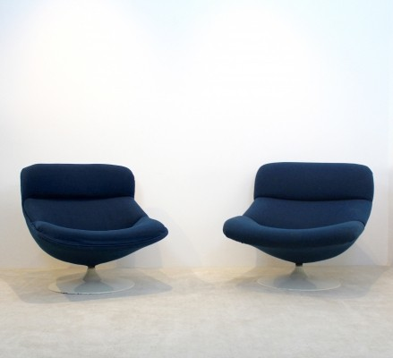 Set of 2 F518 & F522 lounge chairs from the seventies by Geoffrey Harcourt for Artifort
