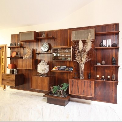 Wall unit from the seventies by Poul Cadovius for unknown producer