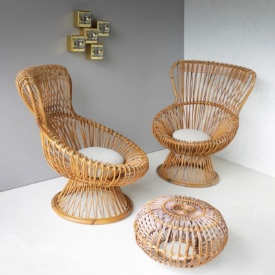 Set of 3 Margherita seating groups from the fifties by Franco Albini for Bonacina