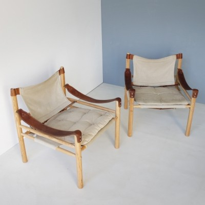 Set of 2 arm chairs from the sixties by Arne Norell for Aneby Møbler