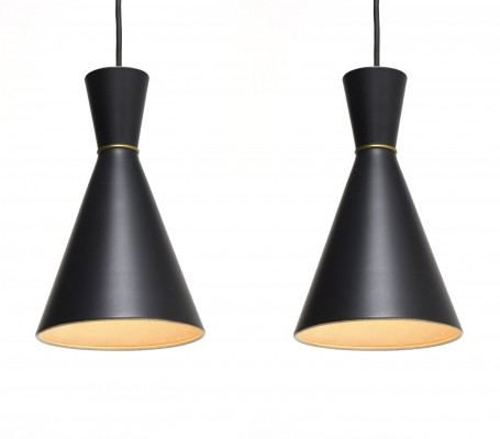 2 hanging lamps from the fifties by Svend Aage for Holm Sørensen & Co