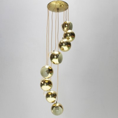 Cascade hanging lamp from the sixties by Goffredo Reggiani for Reggiani